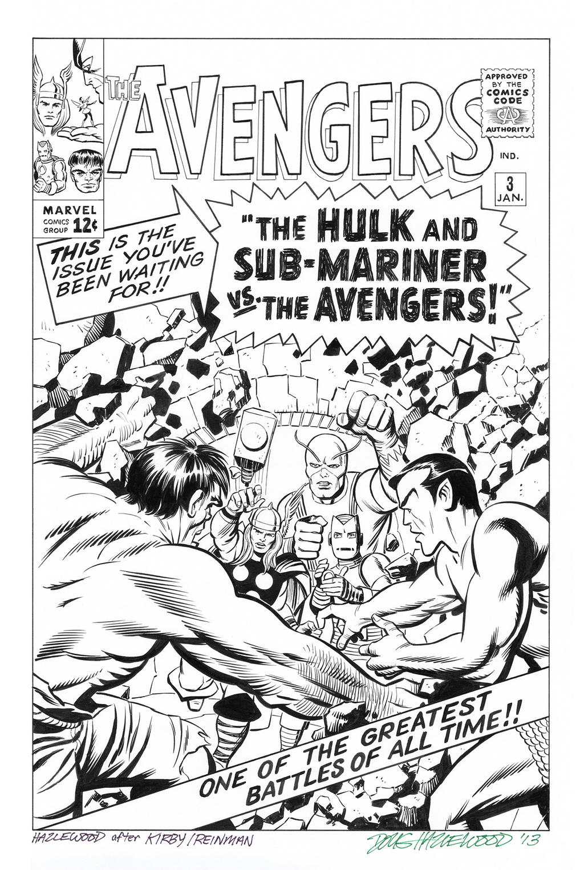 AVENGERS #3 Cover Art RECREATION - Doug Hazlewood by DRHazlewood