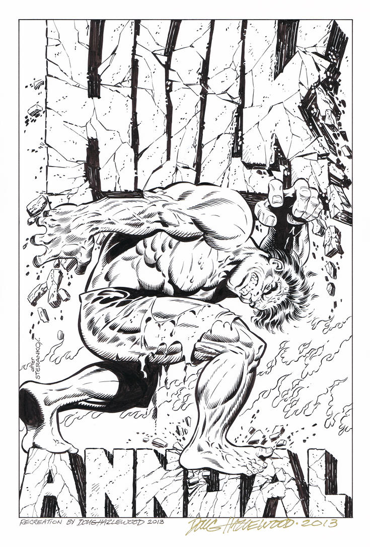 HULK ANNUAL #1 COVER RECREATION-Hazlewood SOLD by DRHazlewood