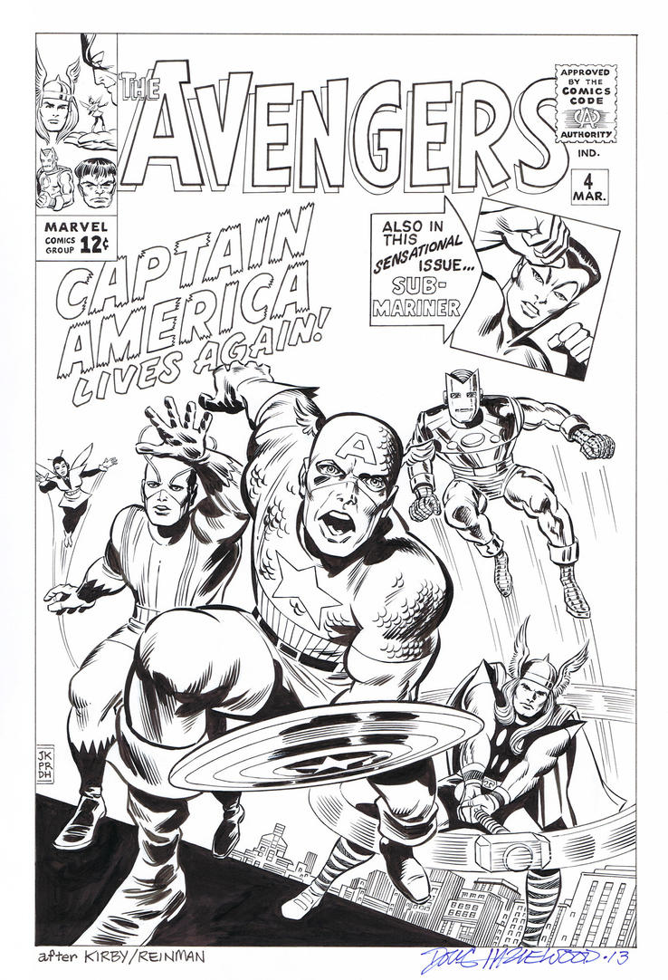AVENGERS #4 Cover Art RECREATION - Hazlewood  SOLD by DRHazlewood