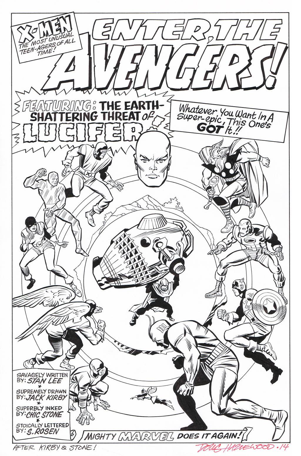 X-MEN #9 Title Splash RECREATION Hazlewood SOLD by DRHazlewood