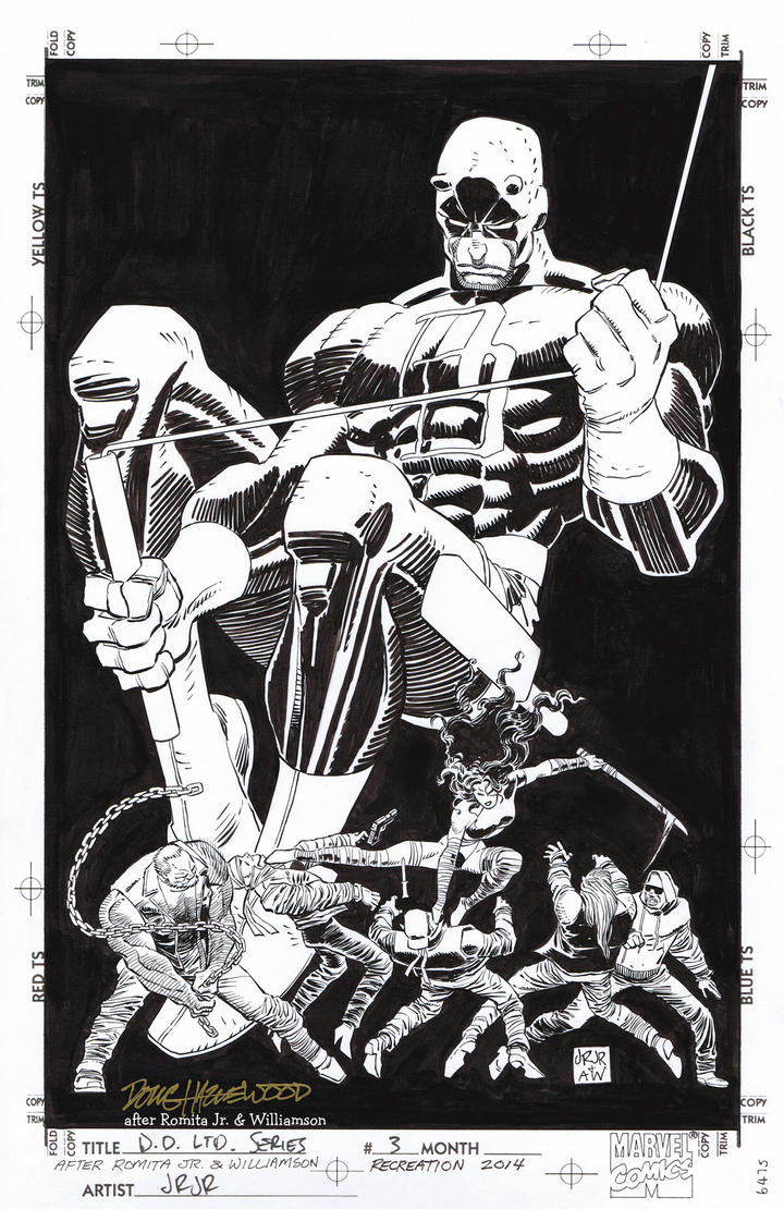 DAREDEVIL Man Without Fear #3 Cover Recreation by DRHazlewood