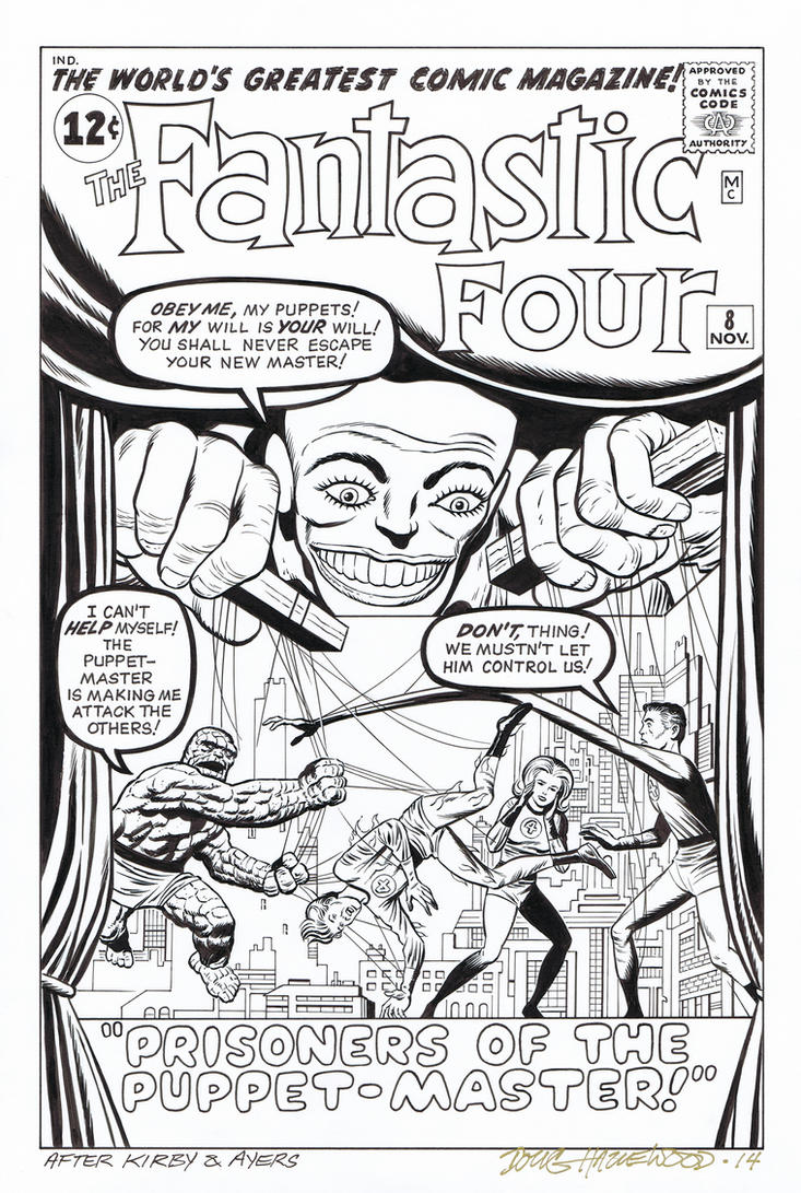 FANTASTIC FOUR #8 Cover Recreation PUPPET-MASTER by DRHazlewood