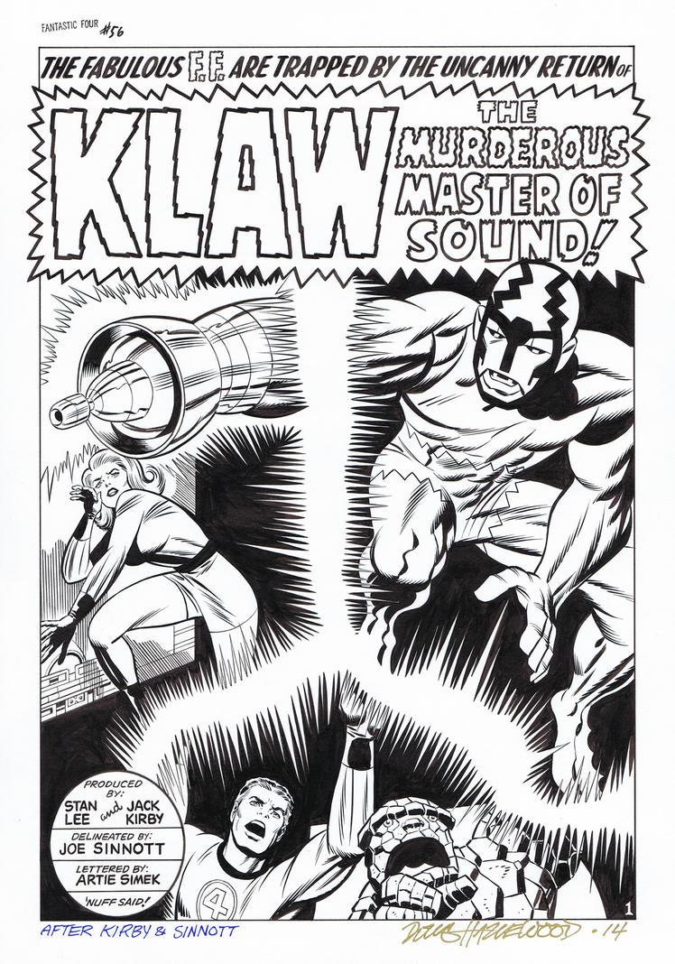 FANTASTIC FOUR #56 Title Splash Recreation KLAW!!! by DRHazlewood