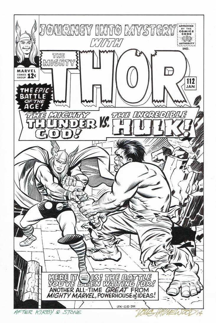 JOURNEY INTO MYSTERY #112 Thor vs Hulk RECREATION by DRHazlewood