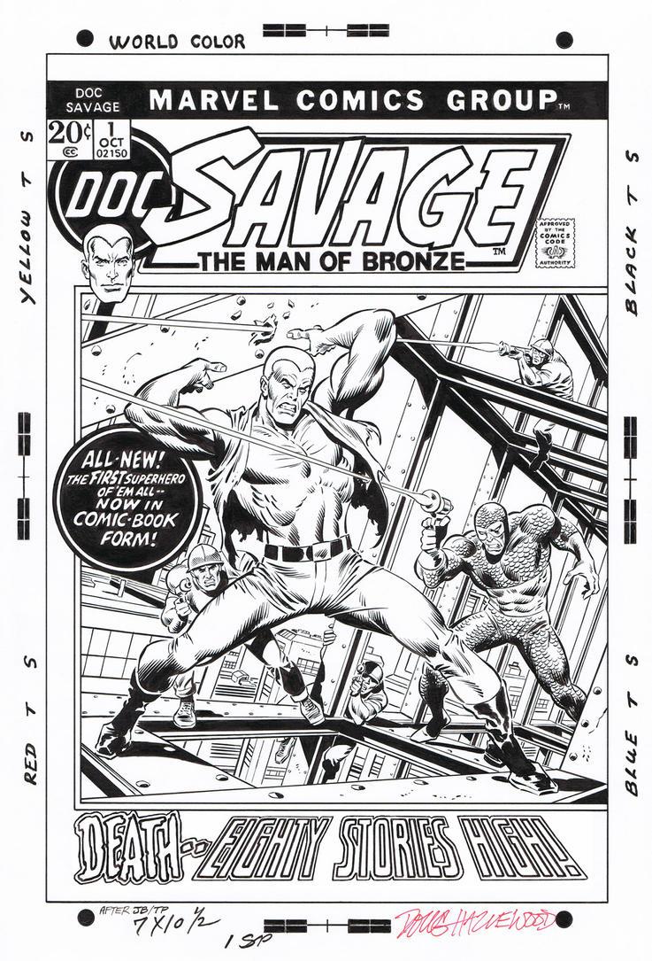 DOC SAVAGE (Marvel) #1 Cover Recreation -Hazlewood by DRHazlewood