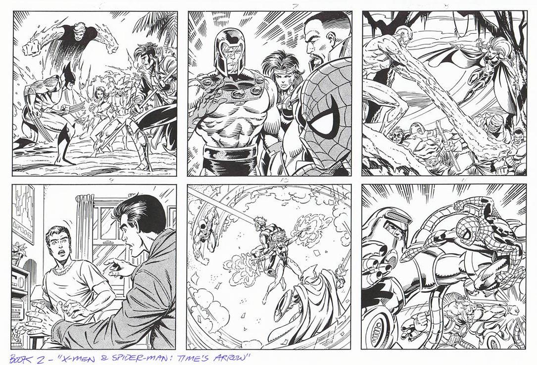 X-MEN and SPIDER-MAN: TIME'S ARROW Book 2 Grummett by DRHazlewood