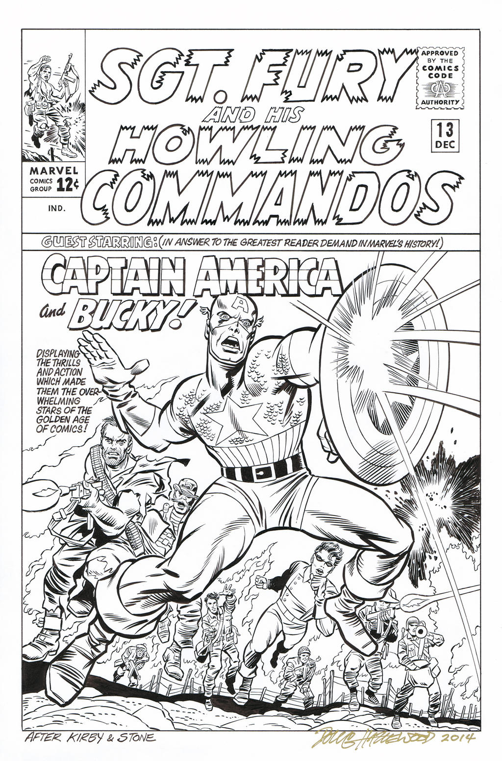 SGT. FURY #13 Cover Recreation - CAPTAIN AMERICA! by DRHazlewood