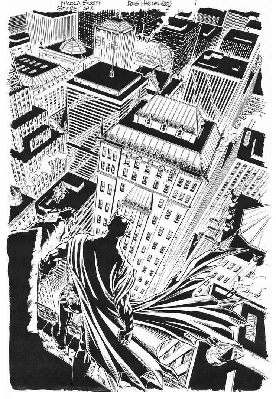 SECRET SIX #2 Batman TITLE SPLASH Scott/Hazlewood by DRHazlewood