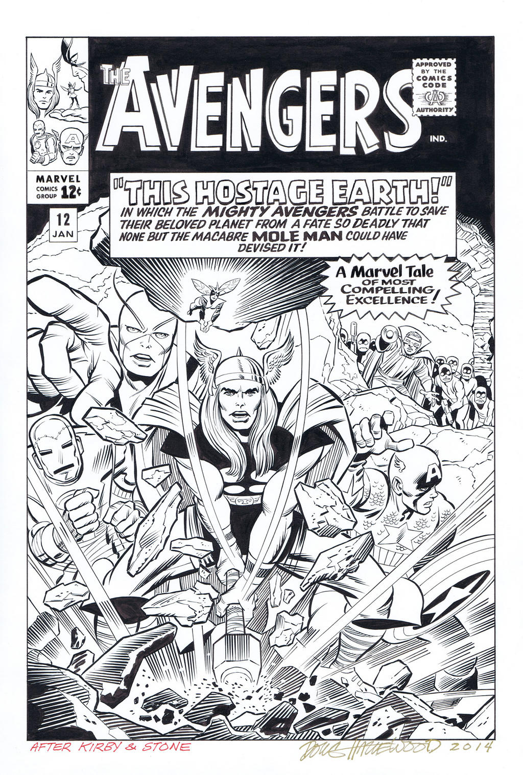 AVENGERS #12 (1965) Cover Recreation HAZLEWOOD by DRHazlewood