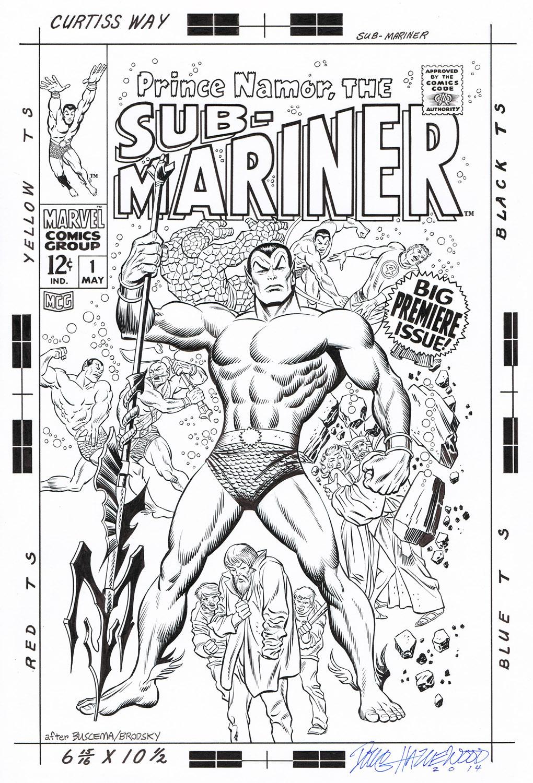 SUB-MARINER #1 (1968) Cover Recreation HAZLEWOOD by DRHazlewood