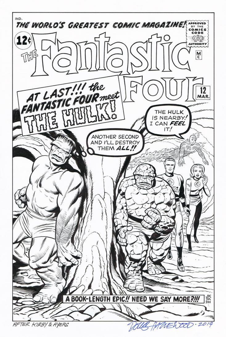 FANTASTIC FOUR #12 Cover Recreation HULK Hazlewood by DRHazlewood