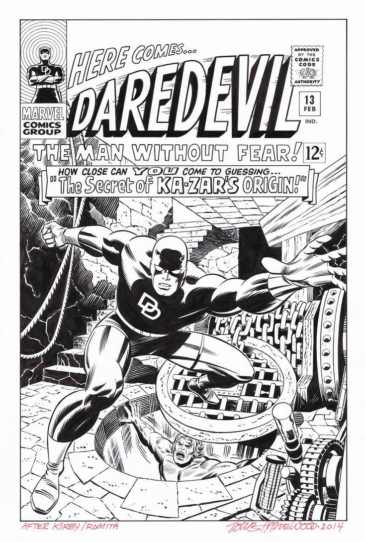 DAREDEVIL #13 Cover Recreation HAZLEWOOD - Kirby by DRHazlewood