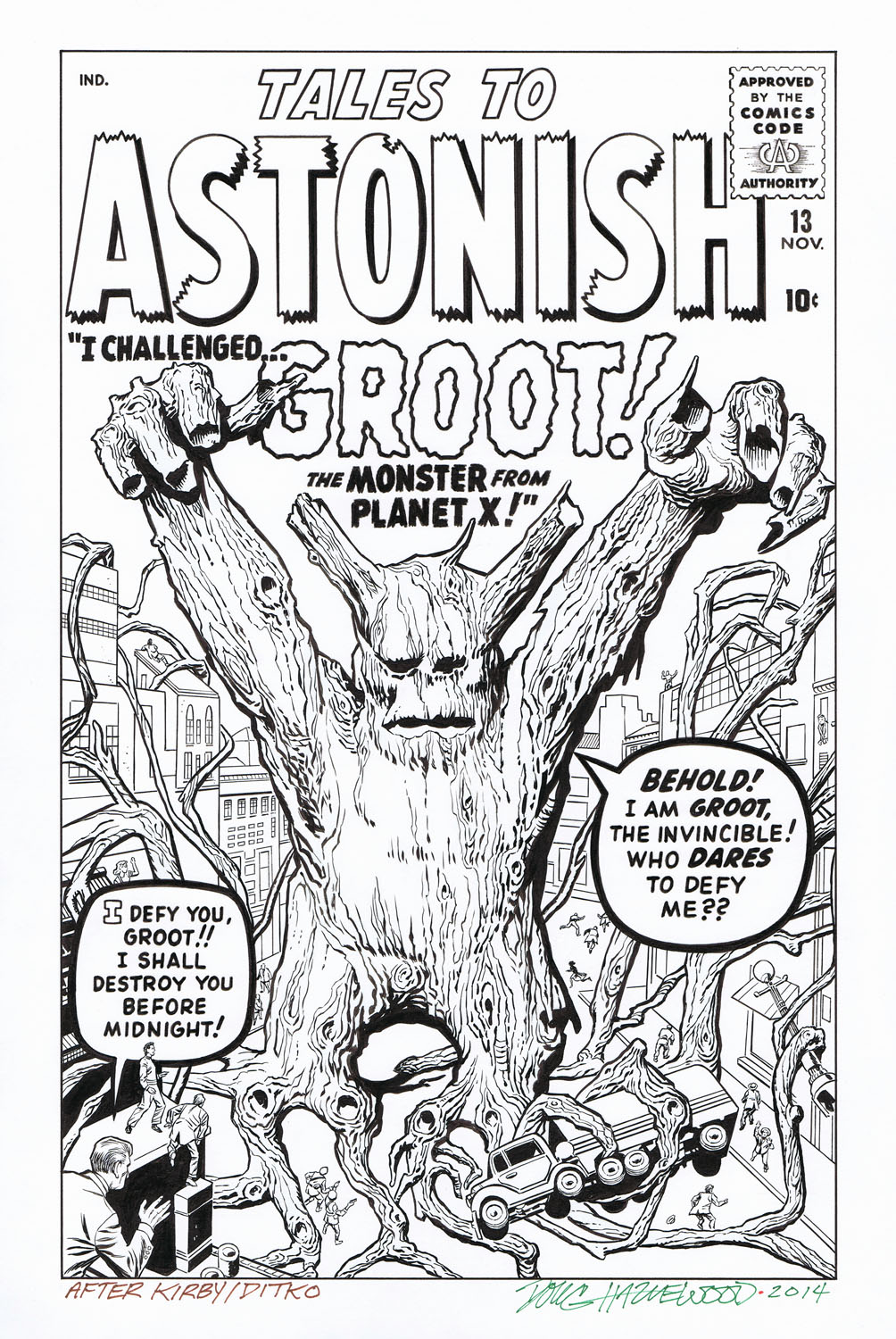 TALES TO ASTONISH #13 Cover Recreation 1st GROOT! by DRHazlewood