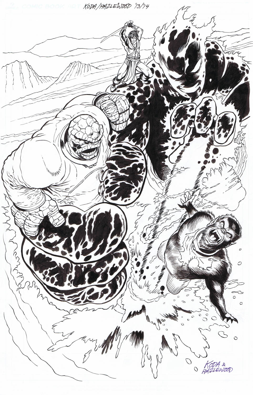 Thing/Werewolf By Night/John Carter Cover Reimag. by DRHazlewood