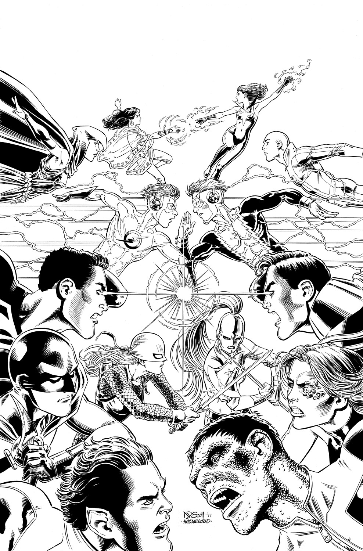 TEEN TITANS #90 Cover Art - Scott/Hazlewood LARGE by DRHazlewood