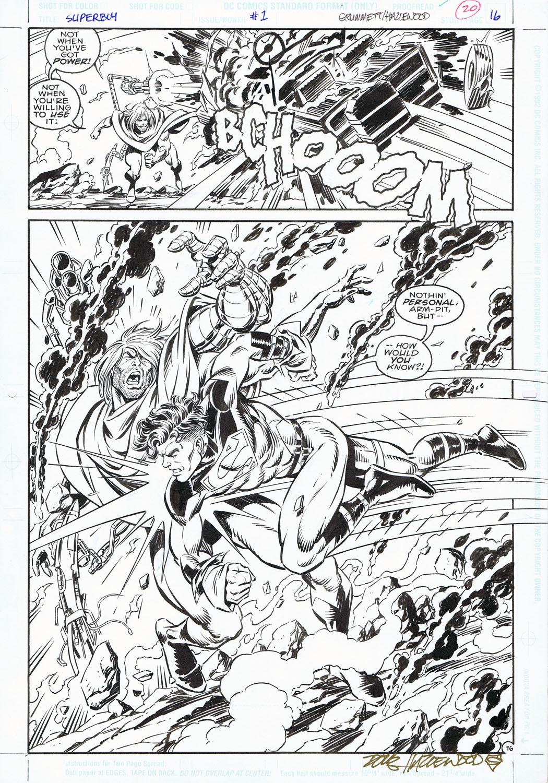 SUPERBOY #1 Pg 16 GRUMMETT/HAZLEWOOD Action Page by DRHazlewood