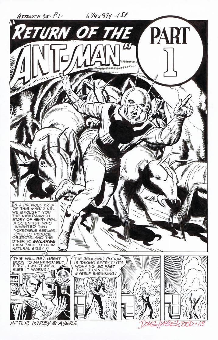 TALES TO ASTONISH #35 Recreation HAZLEWOOD Ant-Man by DRHazlewood