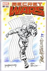 FIGHTING AMERICAN Blank Cover Sketch HAZLEWOOD by DRHazlewood