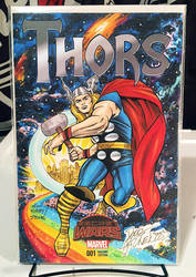 THOR Sketch Cover THORS #1 COLORED Hazlewood/Lydic by DRHazlewood