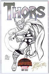 THORS #1 Sketch Cover HAZLEWOOD  After Kirby/Stone by DRHazlewood
