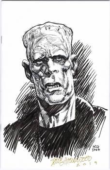 FRANKENSTEIN Monster Blank Cover Sketch HAZLEWOOD