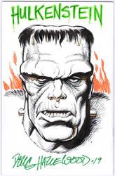 HULKENSTEIN Blank Sketch Comic Bk Cover HAZLEWOOD by DRHazlewood