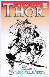 MIGHTY THOR #1 Sketch Cover Jack Kirby/Hazlewood by DRHazlewood
