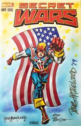 FIGHTING AMERICAN Sketch Cover HAZLEWOOD/LYDIC by DRHazlewood