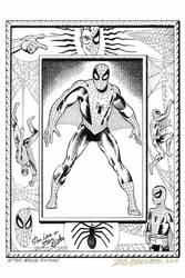 Ditko SPIDER-MAN PIN-UP Recreation DOUG HAZLEWOOD by DRHazlewood