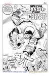 THE BEAST Marvel PIN-UP Recreation Kirby HAZLEWOOD