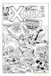 X-MEN 10 Rejected COVER RECREATION Kirby HAZLEWOOD