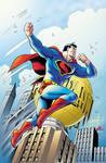 RETRO SUPERMAN Color Print Art GRUMMETT/HAZLEWOOD