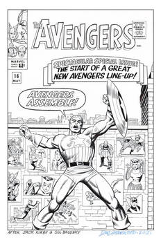 AVENGERS #16 Jack Kirby COVER RECREATION (No. 2)
