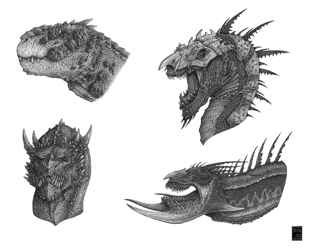 Dragon Heads 2 by Deepcore1 on DeviantArt