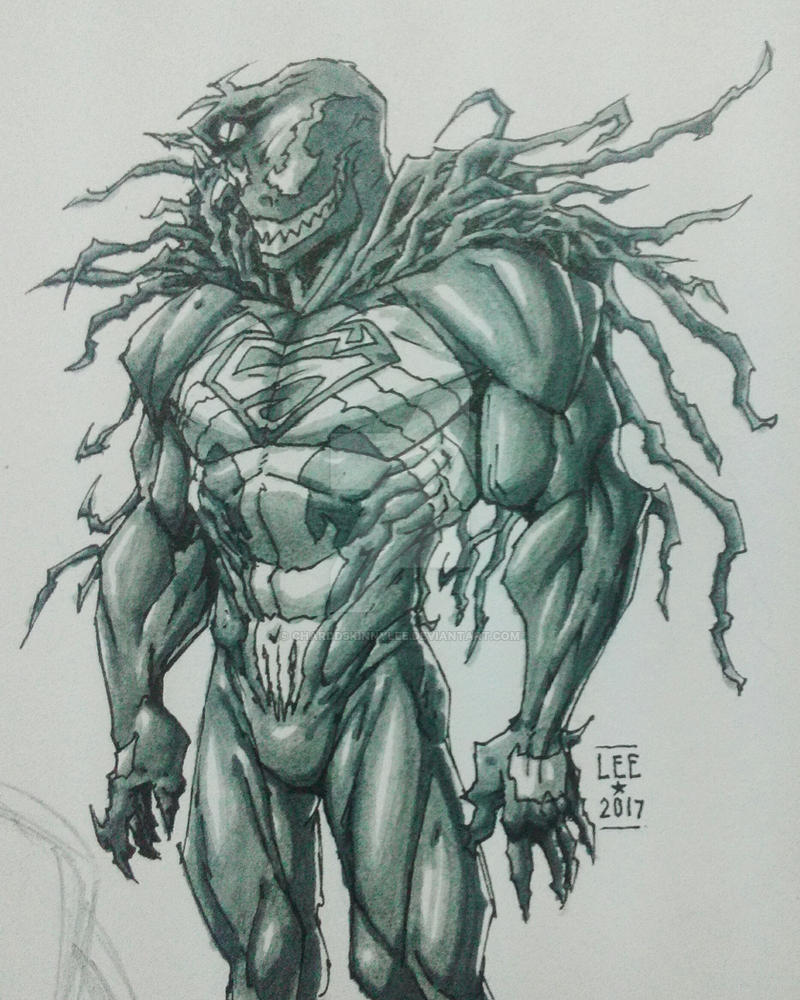 Venom-Superman Crossover by charddskinnylee