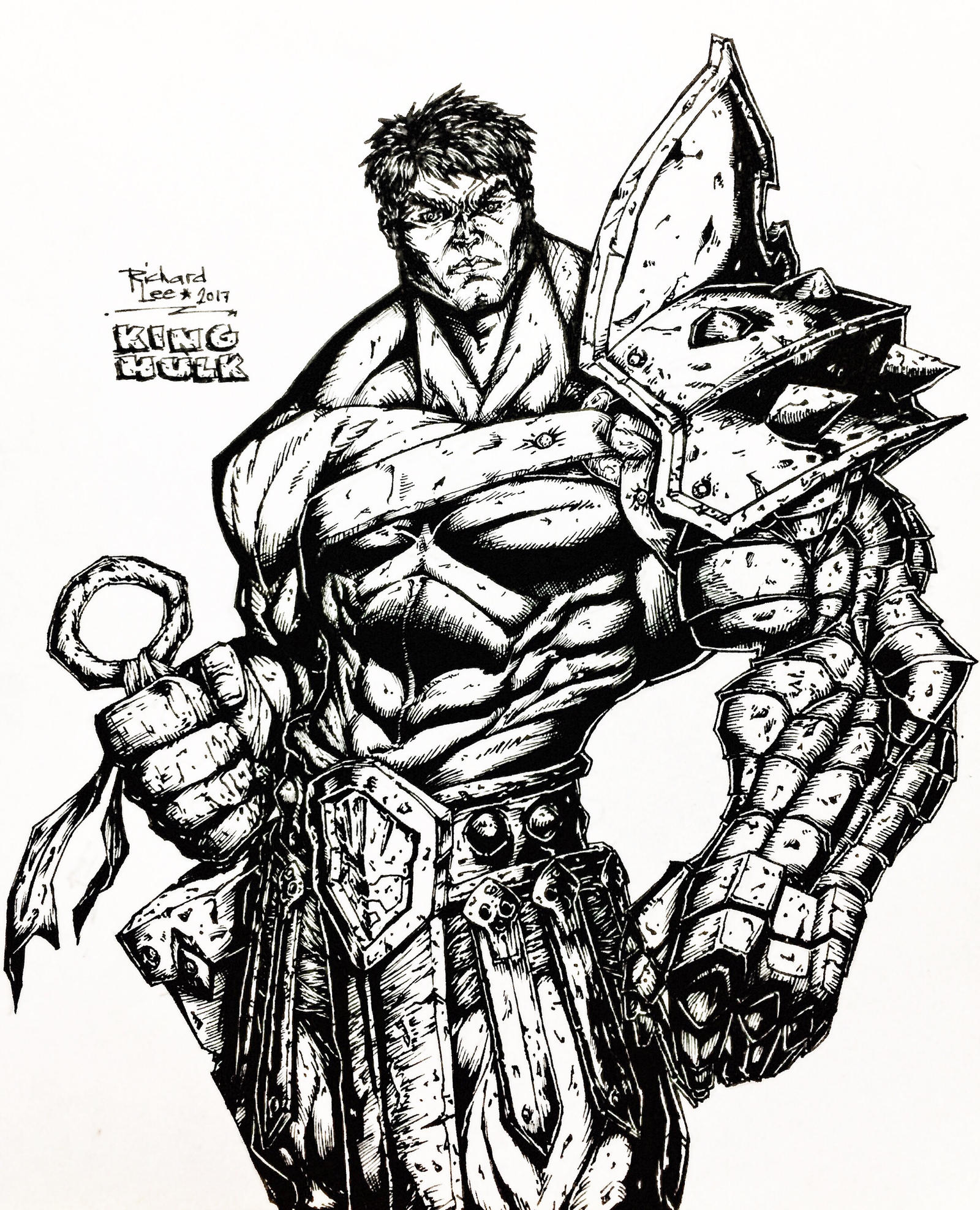 King Hulk Lineart by charddskinnylee on DeviantArt