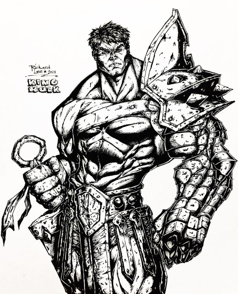 King Hulk Lineart by charddskinnylee