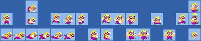 Classic Wario Costume (Mario Maker) Sprite Sheet by ShyGuyXXL