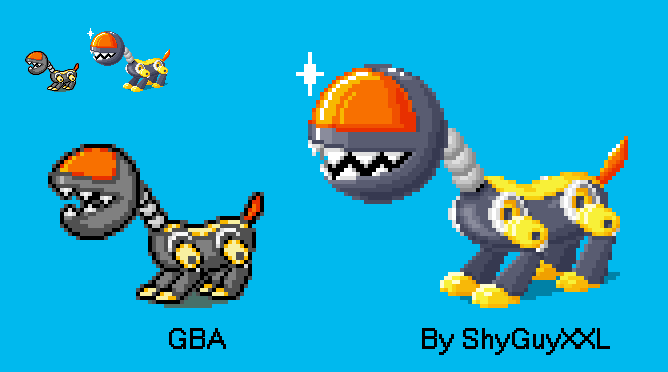 Mecha-Chomp 3DS Style (animated version below) by ShyGuyXXL