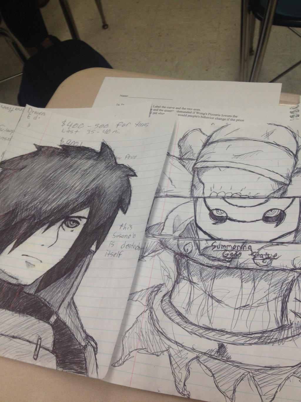 Meanwhile in English class by TheDarkSoulsElitist