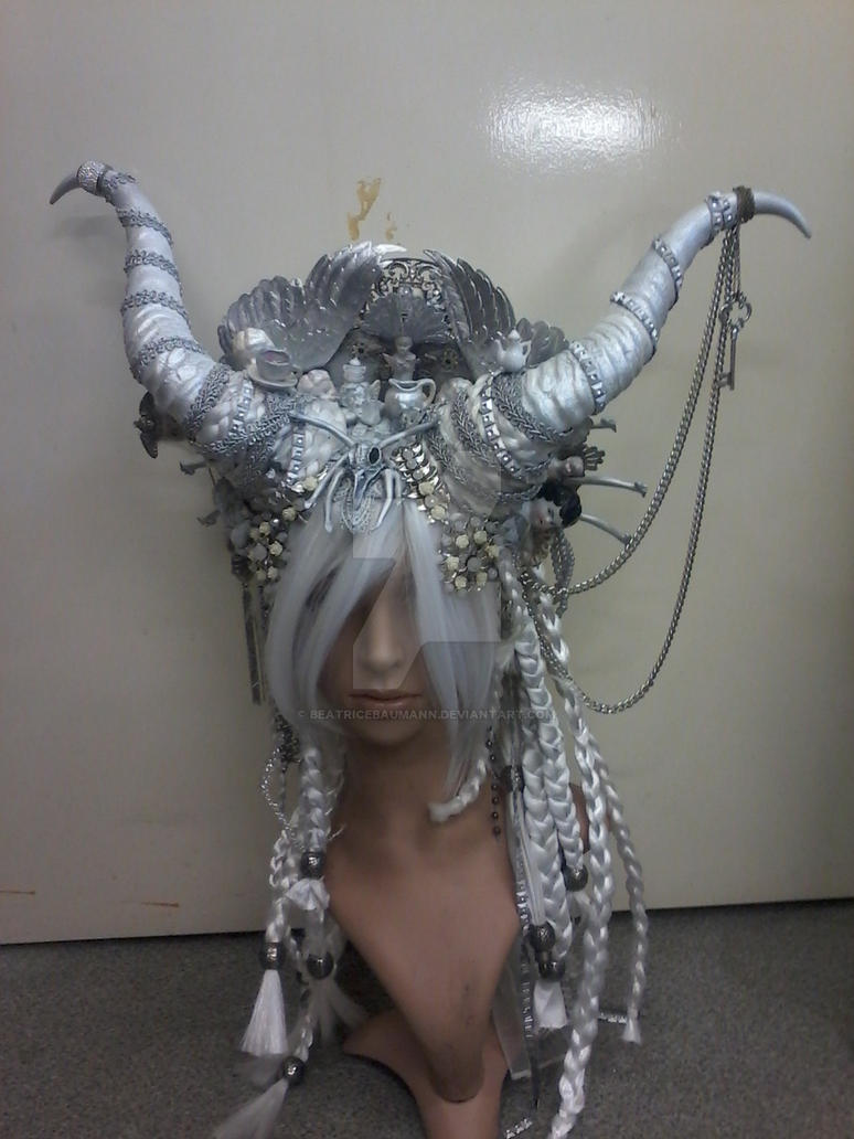 White Baphomed Headdress by BeatriceBaumann