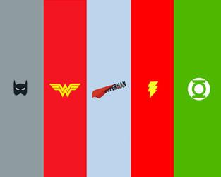 Justice League Logos by abhijitdara