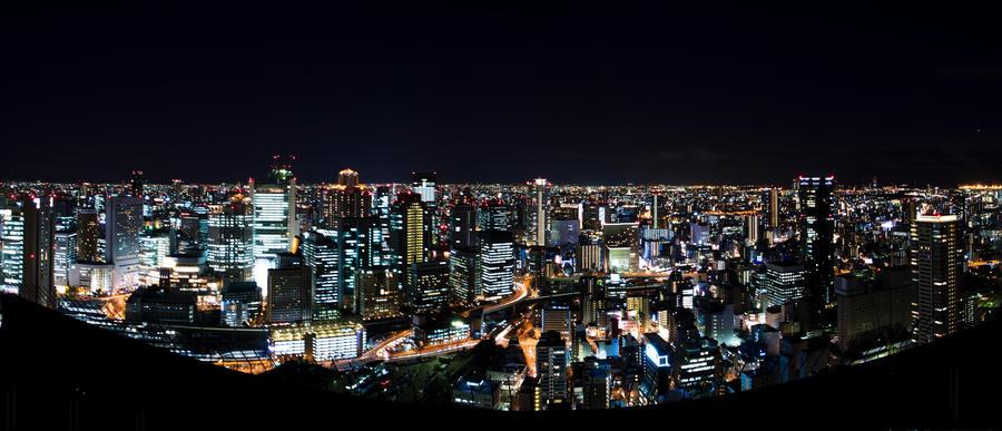Umeda Skyline by ace10414