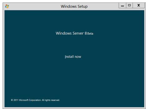 Windows Server 8 Beta