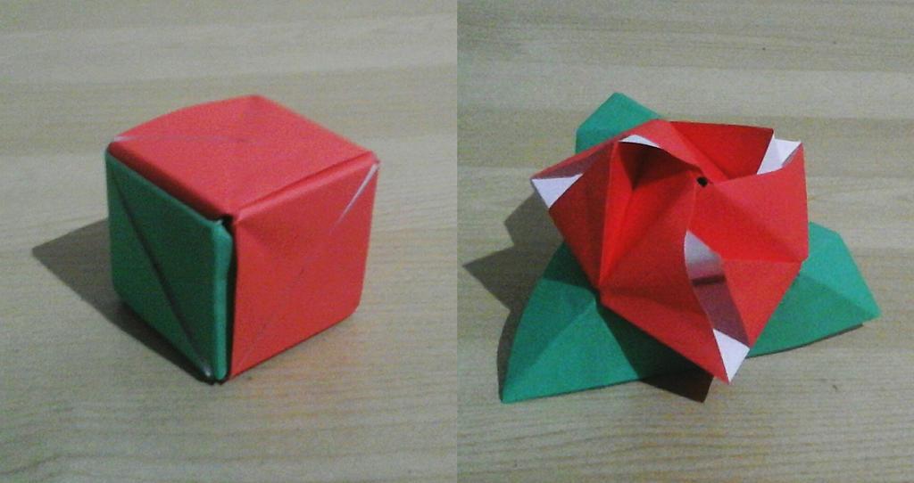 Origami Rose Box – Origami Tutorials | 542x1024