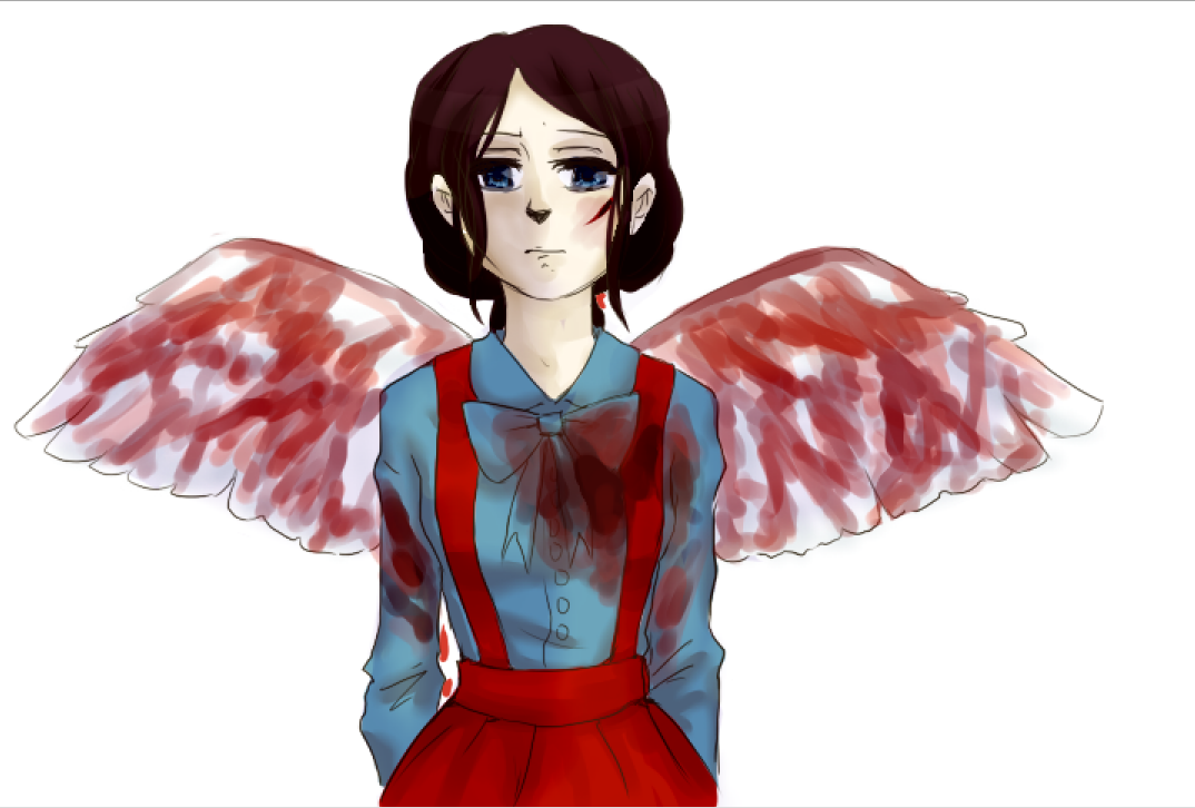 Bleeding Angel by erisabesu-kuro-gosai