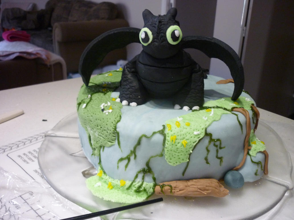 toothless cake by thelastdragonlordeve