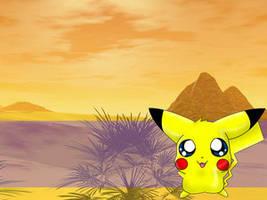 Pikachu Desktop by tikimiku