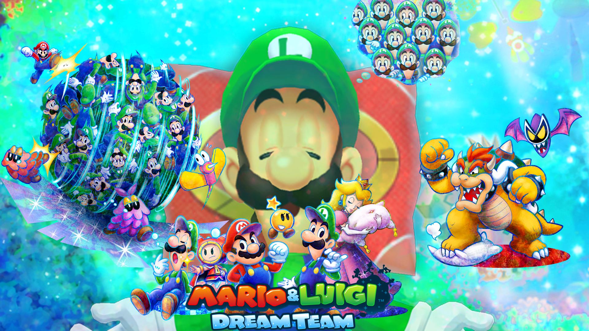 Mario And Luigi Dream Team Wallpaper By Zupertompa On Deviantart
