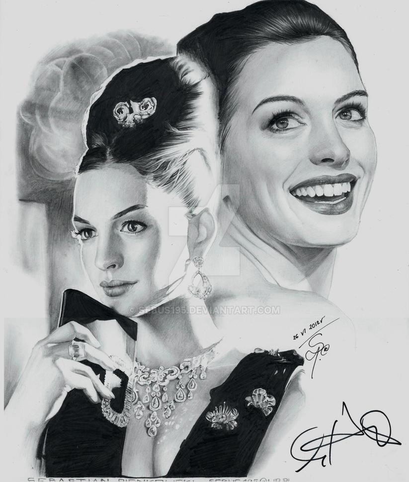 Anne Hathaway Drawing: Audrey Hepburn By Sebus195 On DeviantArt